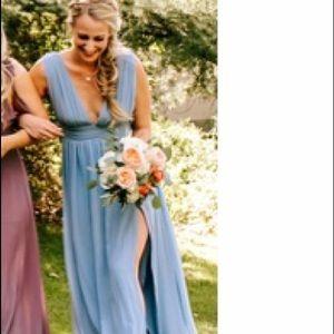 Heavenly hues blue bridesmaid dress